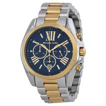 Michael Kors MK5976 Chronograph Blue Dial Two-Tone Ladies Watch - $192.12