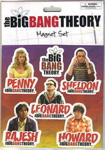 the Big Bang Theory TV Series Photo Peel Off Magnet Set of 6, NEW SEALED - $11.41