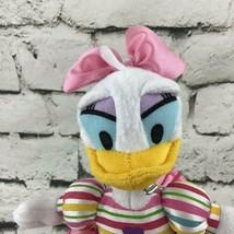 Disney Daisy Duck Plush Soft Doll Striped Dress Stuffed Animal Toy - $9.89