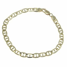 Anchor Marine Chain Link Bracelet Solid 14k Yellow Gold 5mm 8.25inches 1... - €527,81 EUR