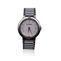 Authentic Yves Saint Laurent Vintage Silver Round Watch 2823 266458 YO - $336.60
