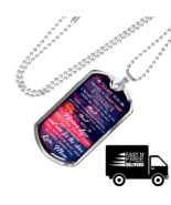 Love Mother To Son Perfect Gift Dog Tag From Mom Mommy Mama, Birthday Pr... - $35.95+
