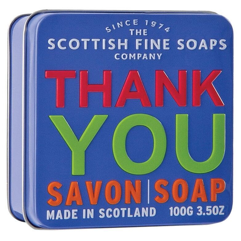 Scottish Fine Soaps Thank You - Sea Kelp Soap in a Tin 100g 3.5oz