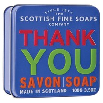 Scottish Fine Soaps Thank You - Sea Kelp Soap in a Tin 100g 3.5oz - $10.68