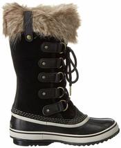 SOREL Women's Black/Stone Insulated Leather Joan Of Arctic Winter Snow Boots NIB image 2