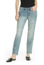 Free People Donne Pioneer OB824326 Jeans Livedin Blue Blu Taglia 26W - $56.33