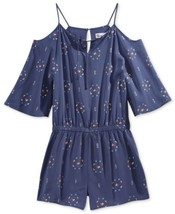 Epic Threads Printed Cold-Shoulder Romper, Crown Blue, SIZE SMALL - $26.30