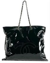 CHANEL Bon Bon Tote Black Patent Shoulder Bag - $4,158.00