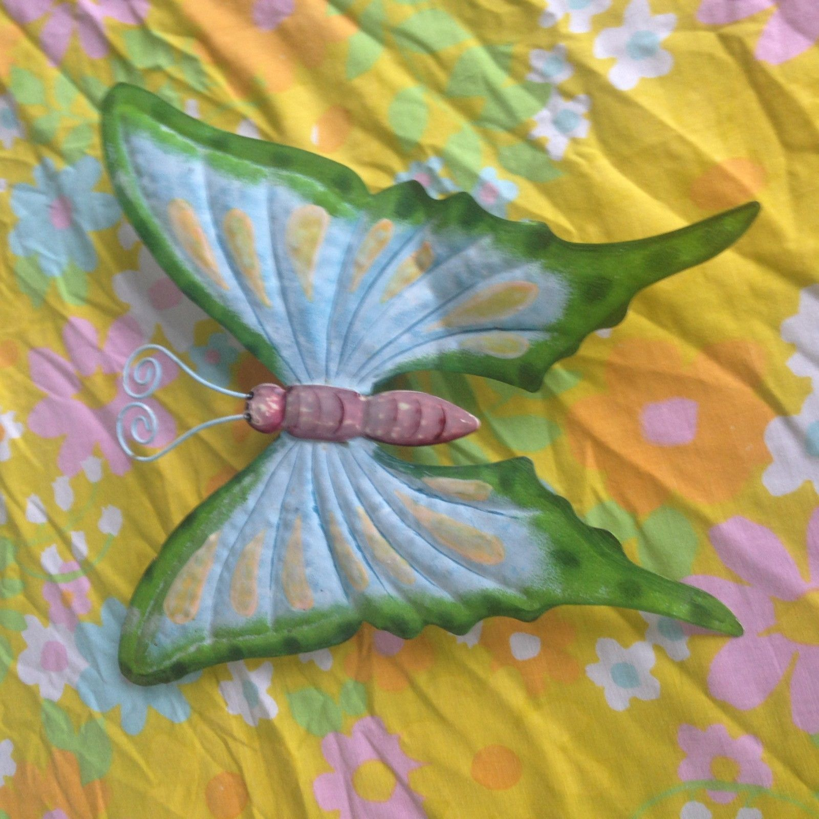 Syroco Dogwood Butterfly wall hanging LARGE 33 x 23 MCM Hollywood Regency VTG