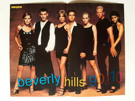Beverly Hills 90210 1998 Greek Mini Magazine Double Page Poster - $7.70