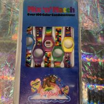 Rare Gem Vintage 80s 90s Lisa Frank Mix & Match Watch 5 Swappable Wristbands image 3