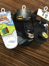Disney's Mickey Mouse  & Buzz And DC Comics Batman No-Show Socks 3 Pair - $7.91
