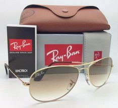 New Ray-Ban COCKPIT RB 3362 001/51 56-14 Gold Sunglasses w/Brown Gradient Lenses - $164.95
