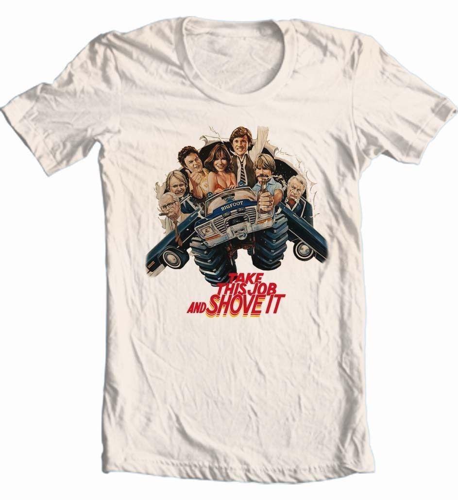Take this job   shove it 80 s retro movie for sale graphic tshirt