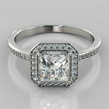 1.80 Ct Princess Cut Diamond Engagement Anniversary Ring Solid Bridal Rings - £59.37 GBP
