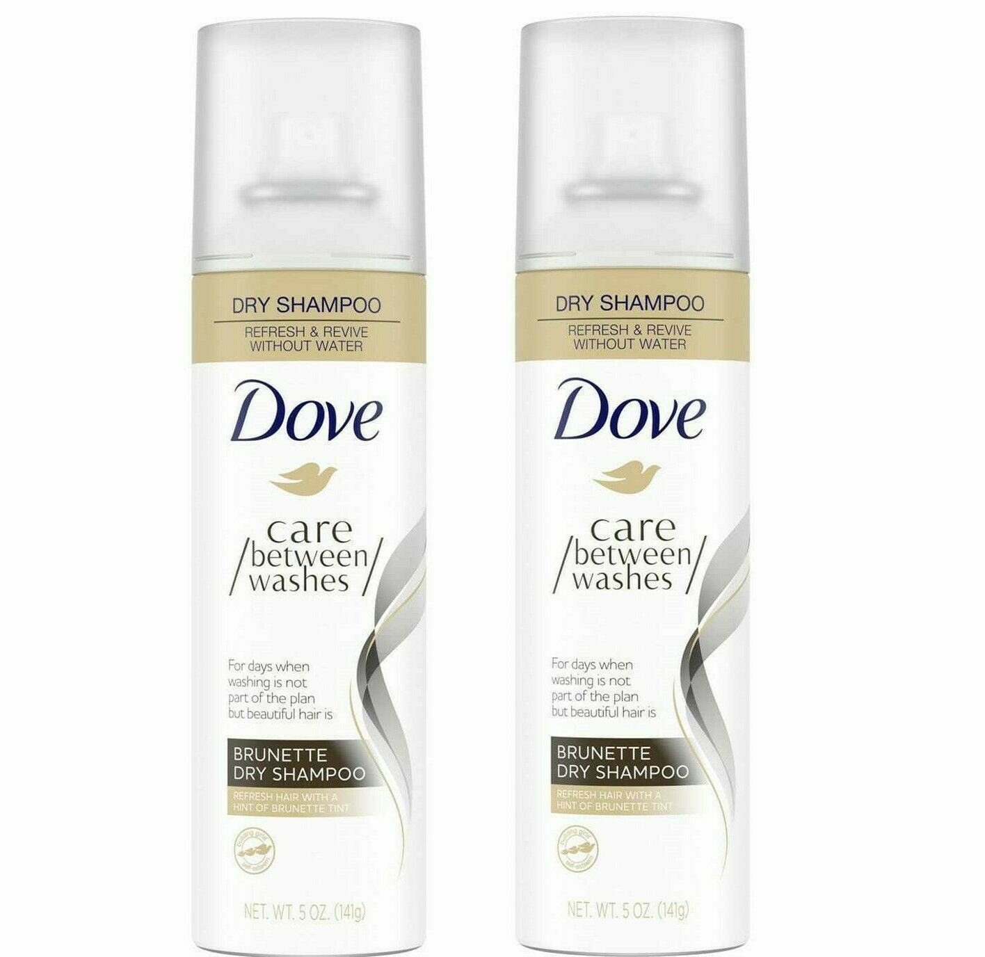 Primary image for Dove Care Between Washes Dry Shampoo Brunette 5 oz Lot Of 2 (LOC BK-19)