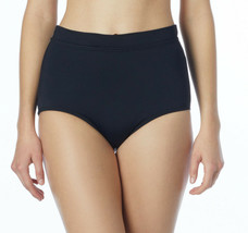 NEW Coco Reef Black Solid High Waisted Power Pant Bikini Bottom Classic ... - $27.71