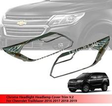 Head Light Headlamp Cover Trim For Chevrolet Trailblazer 2016 2017 2018 ... - $62.33
