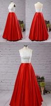 Emerald Green Taffeta Maxi Formal Skirt Women High Waist Taffeta Skirt with Tail image 3