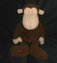 "17"" MANHATTAN TOY CO 2009 BROWN BABY MONKEY STUFFED ANIMAL PLUSH SOFT SE... - $36.12"