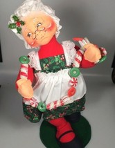 Annalee Mrs Claus felt doll with candy garland Christmas decoration  - $119.27