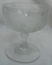 "J EAN Nette Iris Clear CHAMPAGNE/TALL Sherbert Glass S 4"" Pedestal Stem - $9.89"