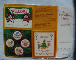 Vintage New The Creative Circle Merry Christmas  Cross Stitch Kit #2156 - Circa  - $7.95