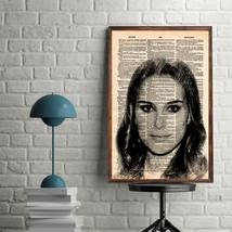 Celebrity Art Print-Natalie Portman Art Print-Movie Prints-Natalie Portm... - $11.82