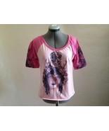 Vintage Vogue Artwork Pink Goddess T Shirt with Short Sleeve Top Jr L - $19.27