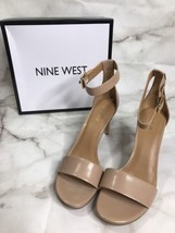 Nine West Womens Meant To Be 9.5 Medium Nude Natural Heels Ankle Strap New - $23.50