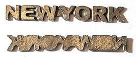 New York Word Fine Pewter Plage Tag Diy  - Approx. 1 7/8 inches Long   (T235) image 2