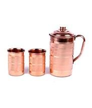 Pure Copper Silver Touch Jug & 2 Glass Set - $34.93