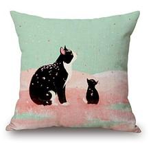 LYN Cotton Linen Square Throw Pillow Case Decorative Cushion Cover Pillo... - $10.27