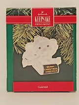 Hallmark Keepsake 1990 Merry Christmas GODCHILD Acrylic Ornament NIB - $10.84