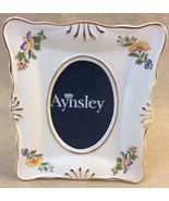 Aynsley English Fine Bone China Photo Frame Cottage Garden Gold Trim - $13.85