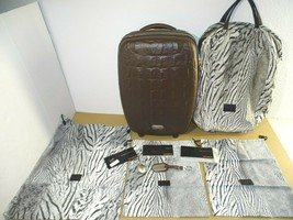 Samsonite Alexander McQueen Black Label Carry-On Suitcase Luggage Crocodile - $988.02