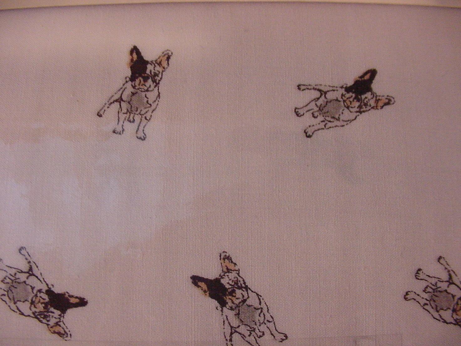 Ralph Lauren French Bulldogs/Boston Terriers on White Sheet Set Full