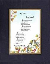Touching and Heartfelt Poem for Friends - [My Very Best Friend! ] on 11 x 14 CUS - $16.33