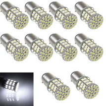 10 X BAY15D 1157 Car Tail Stop Brake Light Bright 64 SMD LED Bulb 12V White - $17.10