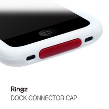 Ringz Silicone Anti-dust Dock Cover Caps Stopper [RED] for iPhone 3G/3GS... - $4.99