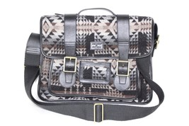 PENDLETON x DR MARTENS Leather Wool Tribal Print Messenger Pagosa Bag Bl... - $177.44 CAD