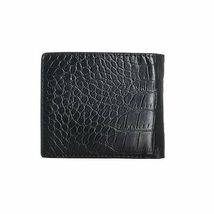 New Calvin Klein Ck Men's Leather Wallet Id Billfold With Coin Case Black 79600 image 4