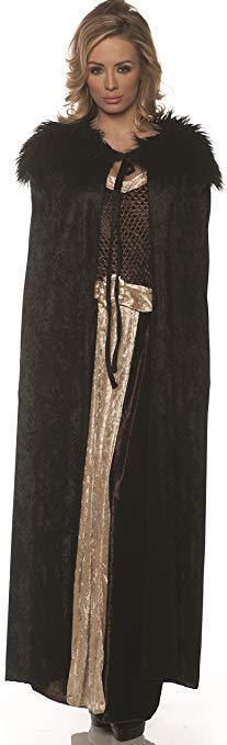 Primary image for Underwraps Renaissance Cape Medieval Black Adult Womens Halloween Costume 29246