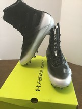 Under Armour Men's Highlight MC Football Shoe Black/White 9.5 D(M) US High Top - $38.00