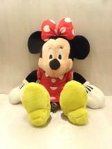 "MINNIE MOUSE Soft PLUSH DOLL Toy 18"" RED Great Gift DISNEY STORE Doll - $9.49"