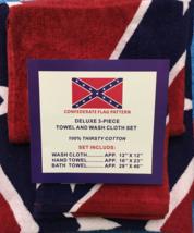 NEW*** PREMIUM  REBEL FLAG BATH SET ,TOWEL,HAND TOWEL AND WASH CLOTH** - $21.00
