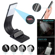LED Reading Book Hug Light With Detachable Flexible Clip USB Rechargeabl... - $11.85