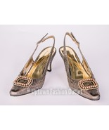 Women's Pierre Dumas Low Heel Church Formal Dress Closed Bronze Renetti-... - $29.99