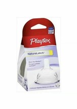 sealed brand new Playtex NaturaLatch Nipple 3-6 Months, Fast Flow 2-ct in a pack - $7.79