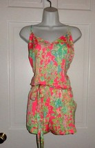 NWT LILLY PULITZER FLAMINGO PINK SOUTHERN CHARM DEANNA ROMPER XL - $98.99